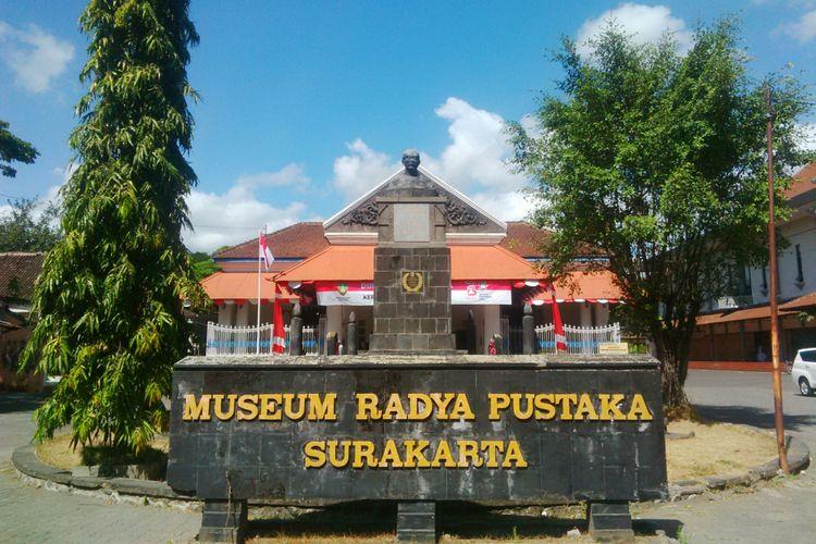 Museum Radya Pustaka berlokasi di Jalan Slamet Riyadi, Kelurahan Sriwedari, Kecamatan Laweyan, Solo, Jawa Tengah, Jumat (3/8/2018).