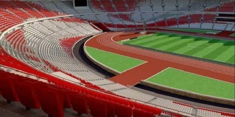 Penampilan baru Stadion Utama GBK