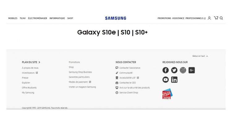 Informasi tentang Nama samsung Galaxy S10