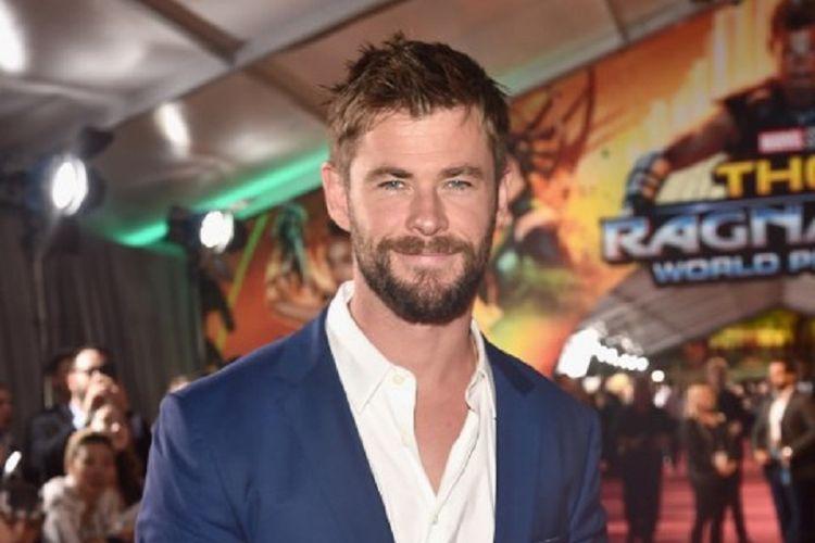 Aktor Chris Hemsworth menghadiri pemutaran perdana film produksi Marvel Studios, Thor: Ragnarok, di El Capitan Theatre, Hollywood, California, pada 10 Oktober 2017.