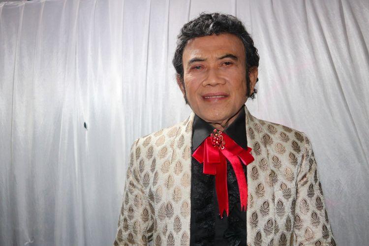 Penyanyi Rhoma Irama dalam saat ditemui di Studio Emtek City, Daan Mogot, Jakarta Barat, Jumat (12/10/2018).