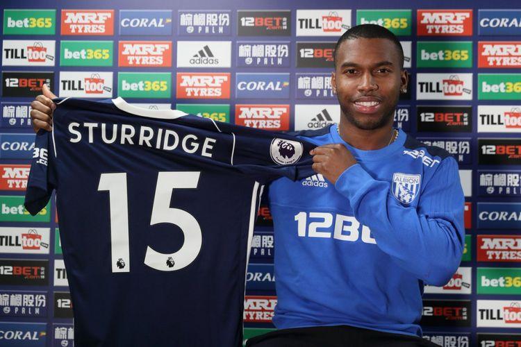 Daniel Sturridge resmi dipinjamkan Liverpool ke West Bromwich Albion hingga akhir musim 2017-2018, Senin (29/1/2018).