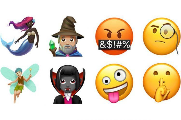 Beberapa emoji baru yang ditambahkan ke iOS 11.1 beta 2.