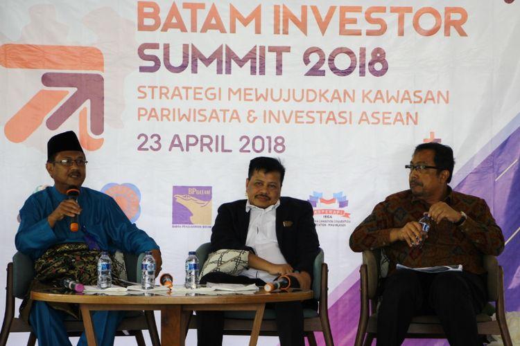 Kepala BP Batam Lukita saat memaparkan potensi perekonomian di Batam, khususnya di bidang properti.
