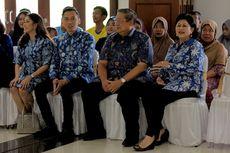 SBY dan Keluarga Kompak Pakai Batik Biru saat Nyoblos di Cikeas