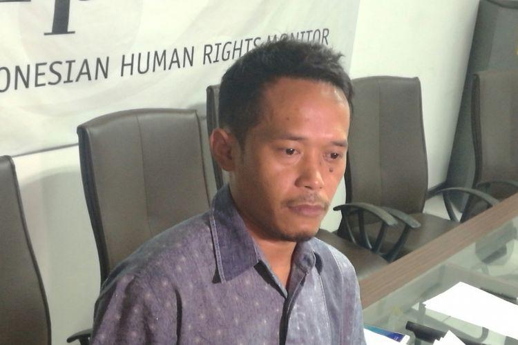 Wakil Direktur Imparsial Gufron Mabruri di Jakarta, Minggu (12/11/2017).