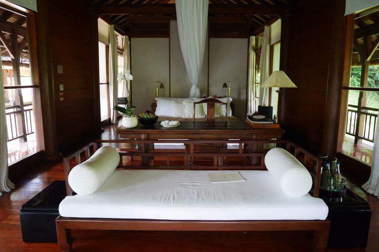 Fasilitas kamar terrace suite, residence tirta ening di Como Shambhala estate, Bali, Jumat (15/12/2017).
