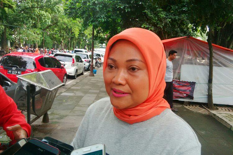 Cawagub Jateng, Ida Fauziah saat ditemui di Sriwedari Solo, Jateng, Minggu (11/3/2018).
