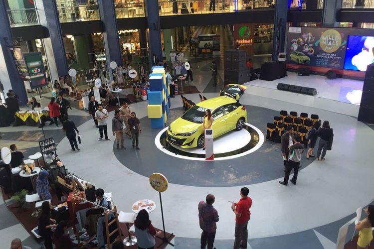 Auto2000 DKI II menggelar New Yaris Millenials Fest di Cilandak Town Square, Jumat (23/3/2018).