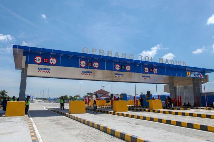 Gerbang Tol Madiun di Tol Ngawi-Kertosono