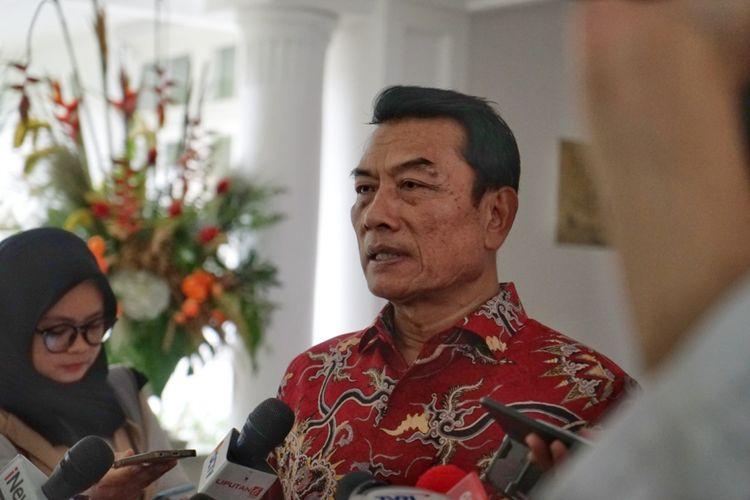 Kepala Staf Kepresidenan Moeldoko saat ditemui di sela-sela acara halalbihalal, di rumah dinas Wakil Presiden Jusuf Kalla, Jalan Diponegoro, Menteng, Jakarta Pusat, Jumat (15/6/2018).