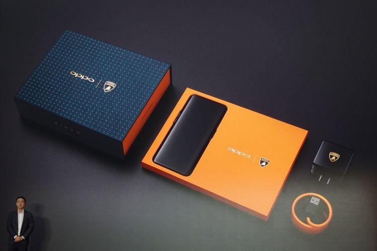 Oppo Find X edisi Lamborghini dikenalkan di Paris, Selasa (19/6/2018).