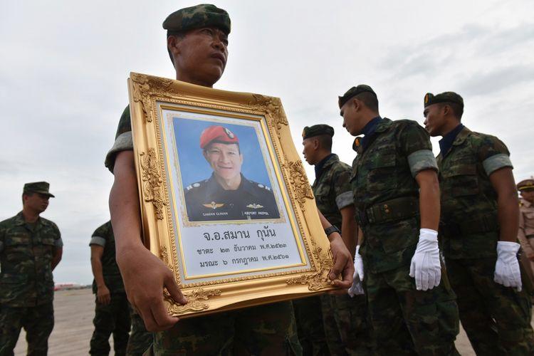 Penyelam profesional Saman Gunan yang pada Jumat (6/7/2018) meninggal dalam upaya pencarian 12 anggota klub bola dan asisten pelatih klub di gua Thum Luang.