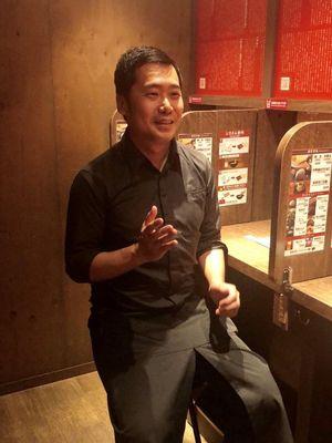 Shibata-san, manajer restoran ini.