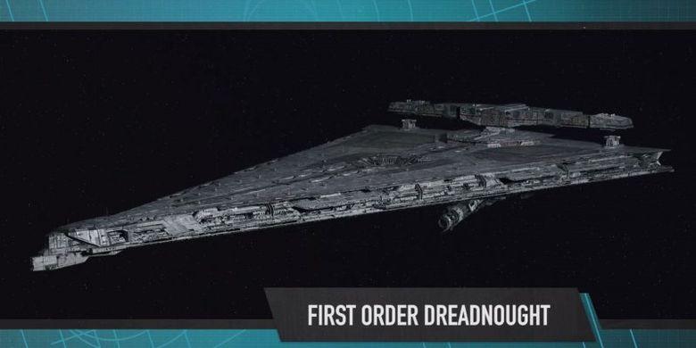 Kapal perang First Order Dreadnought dalam Star Wars: The Last Jedi
