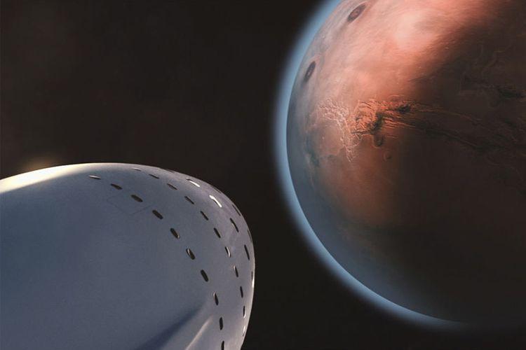 Rencana misi penerbangan pertama ke Mars pada 2024.