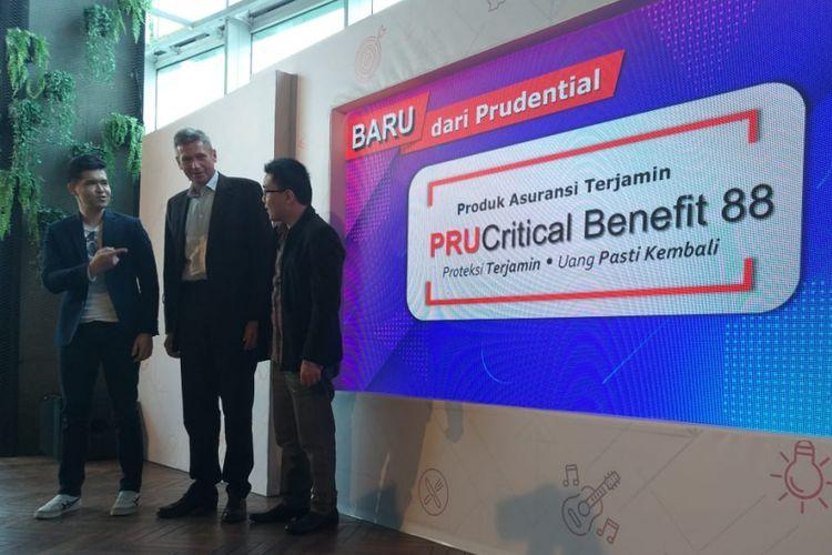 Peluncuran produk asuransi PRUCritical Benefit 88 untuk penyakit kritis, Senin (14/1/2019).