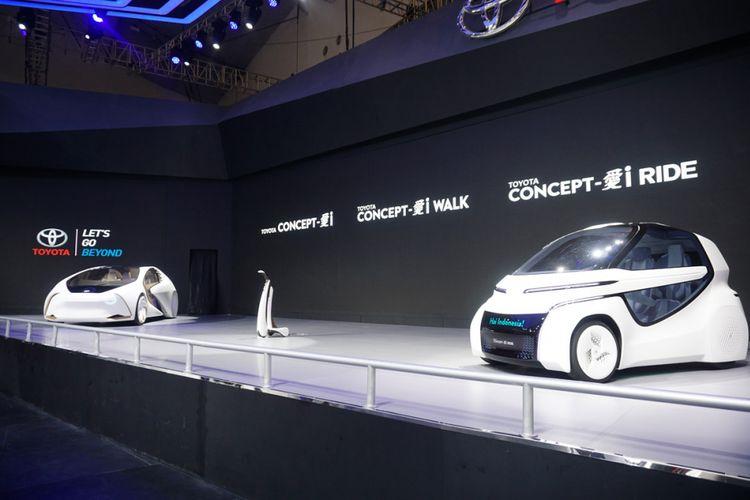 Beragam kendaraan terbaru di pameran GIIAS 2018. Pameran ini akan diselenggarakan mulai 2 Agustus hingga 12 Agustus 2018. Toyota menghadirkan tiga kendaraan konsep dalam i Mobility