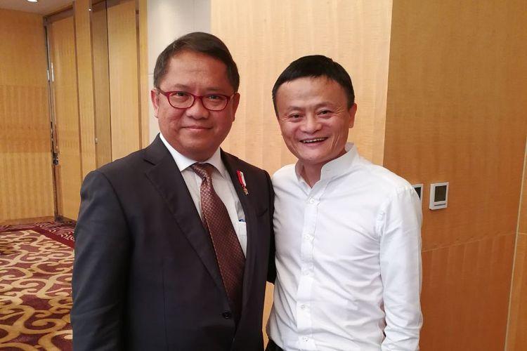 Menkominfo Rudiantara dengan Pendiri Alibaba Group Jack Ma