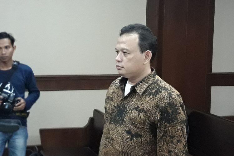 Auditor Madya pada Sub-Auditorat VII B2 Badan Pemeriksa Keuangan (BPK) Sigit Yugoharto menghadapi sidang vonis di Pengadilan Tipikor Jakarta, Kamis (7/6/2018).