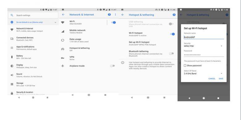 Cara Aktifkan Tethering Bikin Hotspot Wifi Dengan Smartphone