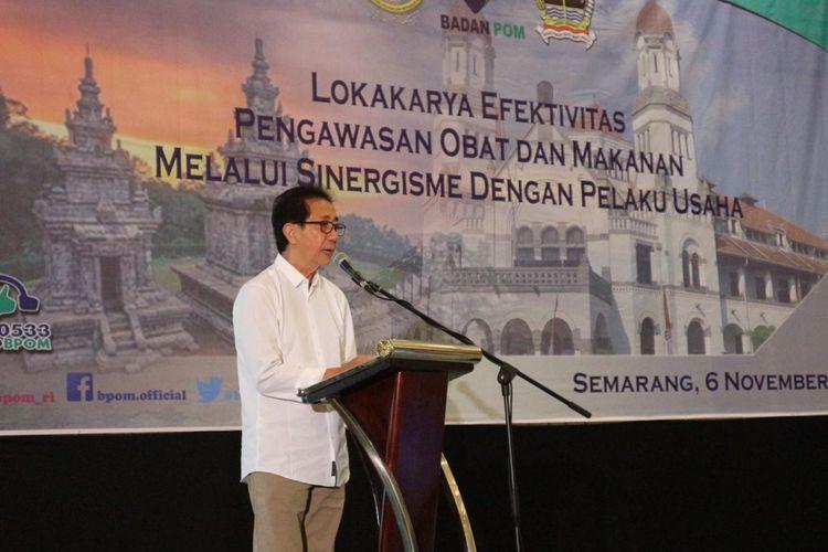 Direktur PT Industri Jamu dan Farmasi Sido Muncul, Tbk Irwan Hidayat saat lokakarya Badan Pengawas Obat dan Makanan (BPOM) di Semarang, Selasa (6/11/2018)