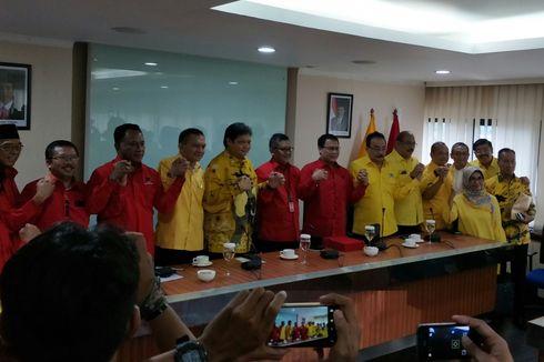 Petinggi Golkar dan PDI-P Bahas Pilpres hingga Cuti Presiden