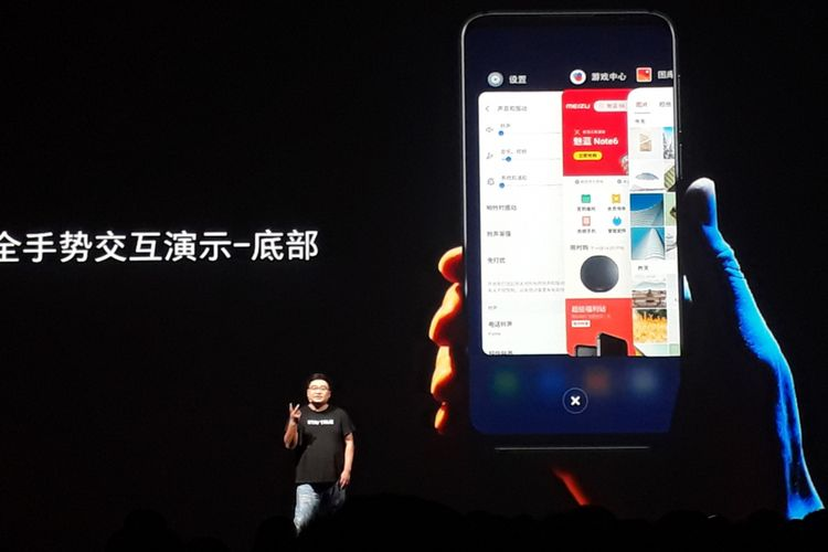 Li Nan, CMO Meizu Technology Company , di acara peluncuran ponsel Meizu 16 dan Meizu 16 Plus, Rabu.