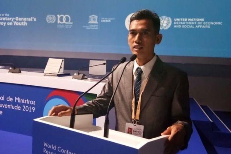 Deputi Pengembangan Pemuda Asrorun Niam Sholeh mewakili Indonesia untuk menjadi delegasi Pertemuan Menteri Pemuda se-Dunia yang dilaksanakan di Lisbon Portugal, 21 - 24 Juni 2019.