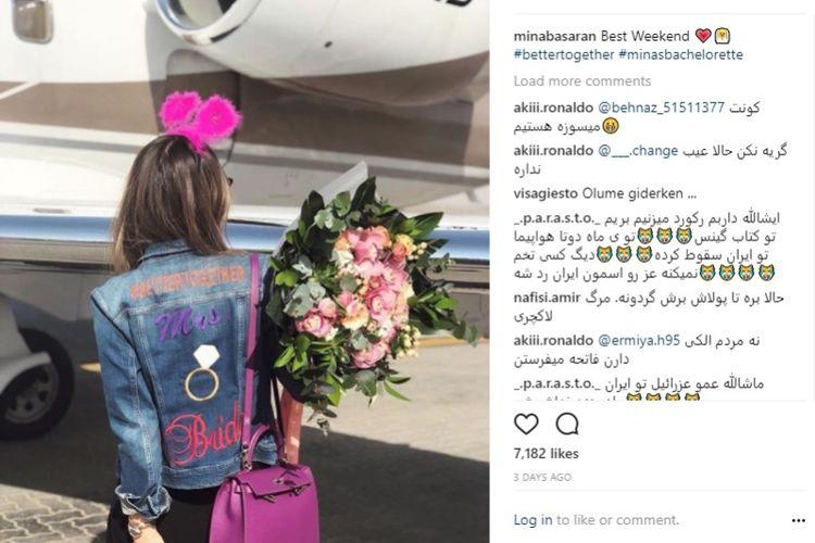 Mina Basaran mengunggah foto liburan di Uni Emirat Arab pada akhir pekan lalu.