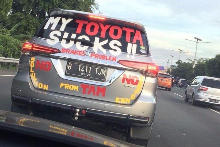 Konsumen Toyota Fortuner yang Kecewa pada TAM