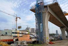 Rel Kereta Layang Medan-Kualanamu Beroperasi Akhir 2018