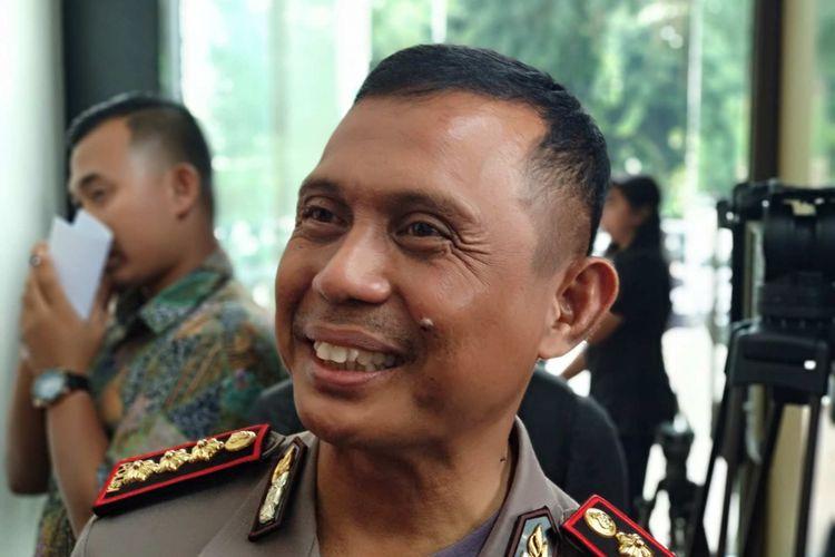 Direktur Lalu Lintas Polda Metro Jaya Kombes Halim Pagarra di Mapolda Metro Jaya, Senin (12/2/2018).