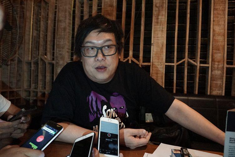 Basis Koil, Adam Vladvamp dalam sesi wawancara di kawasan SCBD, Jakarta Selatan, Kamis (12/7/2018).