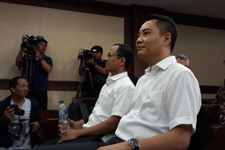 Anggota Komisi I DPR Fayakhun Andriadi di Pengadilan Tipikor Jakarta, Kamis (16/8/2018).