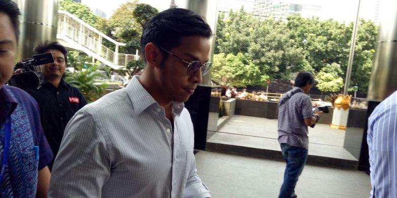 Putra mantan Ketua DPR Setya Novanto, Rheza Herwindo, diperkait kasus e-KTP, Rabu (10/1/2018).
