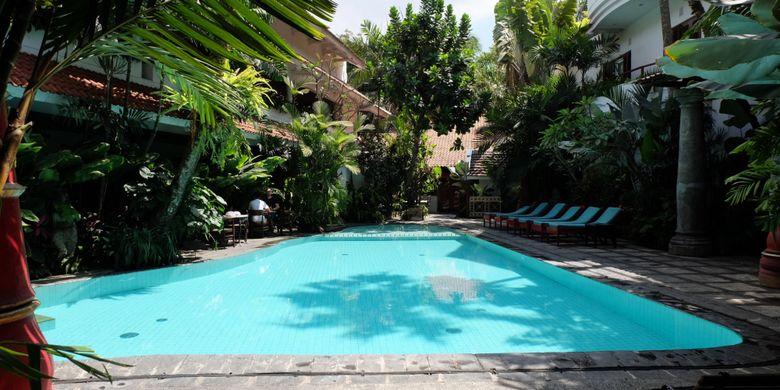 Kolam renang di Hotel Tugu Malang.