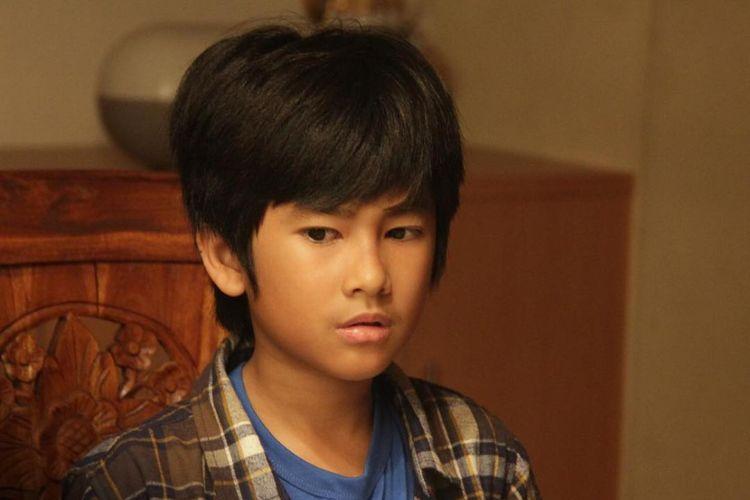 Aktor cilik Zidane Khalid, pemeran Baskara dalam film Silam produksi MD Pictures.