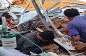 Diduga Konstruksi Tak Kuat, Atap RSAL Dr Ramelan Surabaya Ambruk