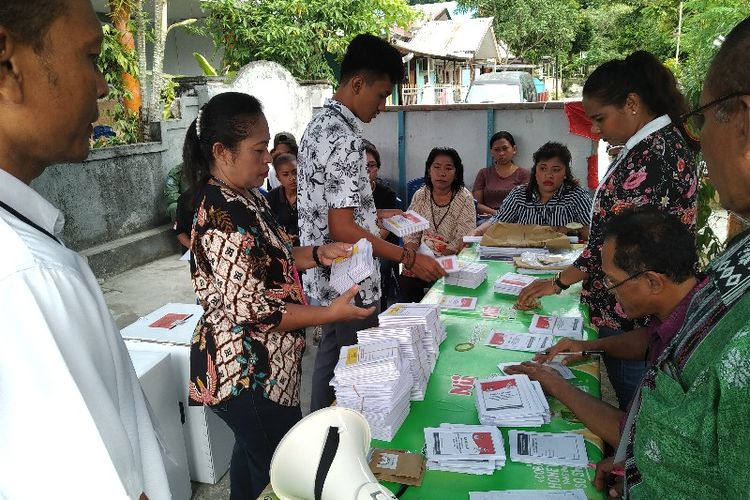 Pelaksanaan Pemilu Susulan di Kota Jayapura pada 18 April 2019 (18/04/2019)