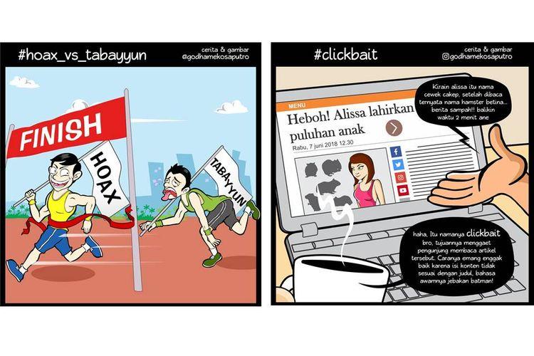 Komik karya Godham Eko Saputro yang mengedukasi untuk melawan hoaks.