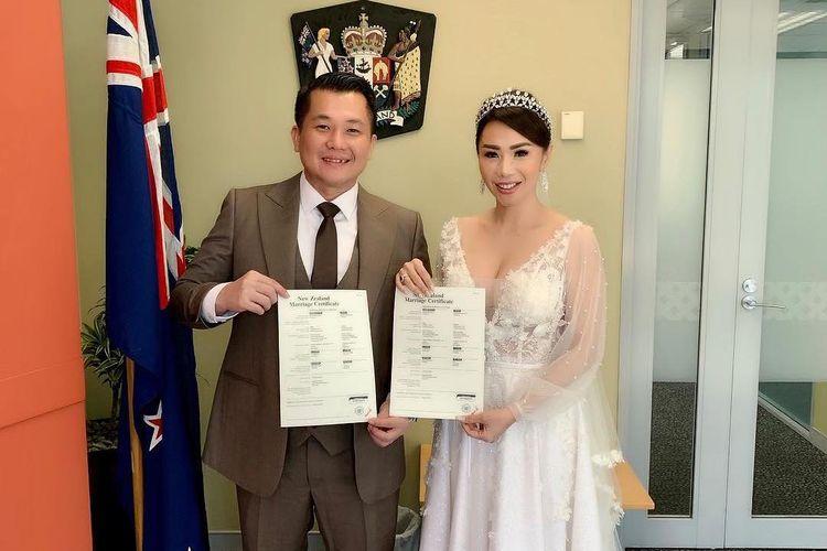 Pernikahan Femmy Permatasari dan Alfons di Aucklans, New Zealand, Kamis (14/3/2019).