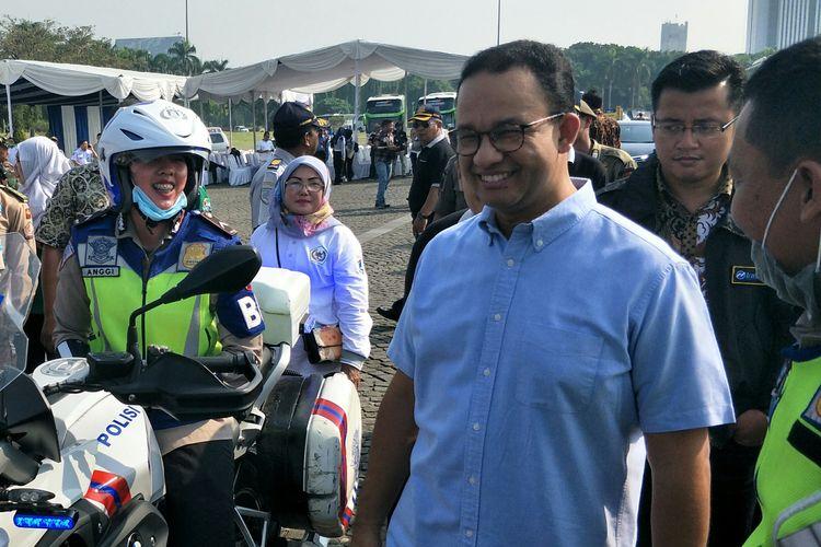 Gubernur DKI Jakarta Anies Baswedan di Monas, Jakarta Pusat