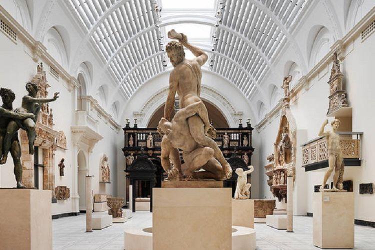Salah satu galeri di V&A Museum tentang masa peradaban Romawi.