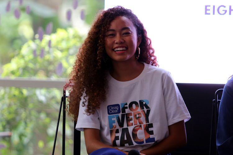 Agnes Oryza, beauty blogger & influencer yang hadir menjadi salah satu pembicara dalam kampanye Clean & Clear #ForEveryFace, di Kemang, Jakarta, Jumat (26/1/2018).
