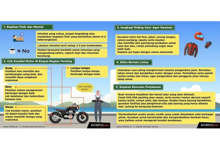 Infografik Tips mudik dengan sepeda motor di jalur Pantura
