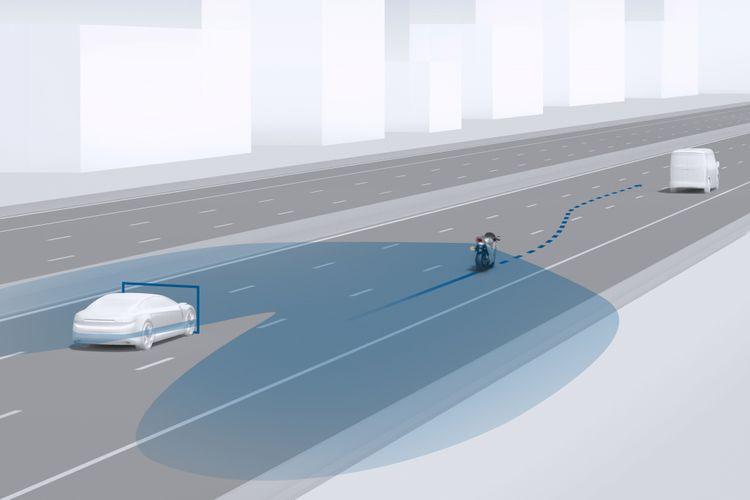 Teknologi deteksi blind-spot milik Bosch buat motor.