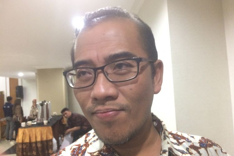 Komisioner Komisi Pemilihan Umum (KPU) Hasyim Asyari saat ditemui di Gedung KPU Pusat, Jakarta, Jumat (27/7/2018) malam.