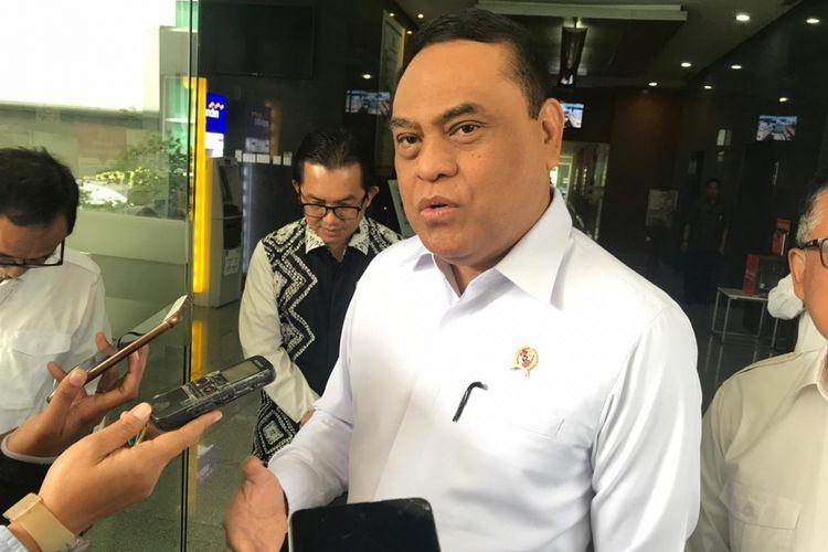 Menteri Pendayagunaan Aparatur Negara dan Reformasi Birokrasi (Menpan RB) Syafruddin saat diwawancarai di Jakarta, Rabu (14/11/2018).