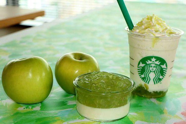 """""""Green Apple Jelly Frappuccino"""" memiliki rasa asam-manis dan menyegarkan"""